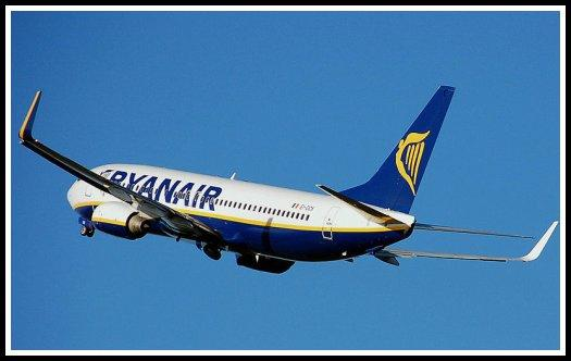Ryanair Boeing 737 taking off from Bristol International Airport