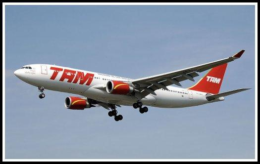 TAM Linhas Aereas Airbus A330 landing at London-Heathrow Airport