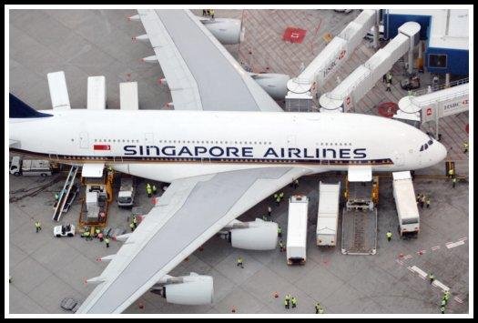 Ground handling of a Singapore Airlines Airbus A380