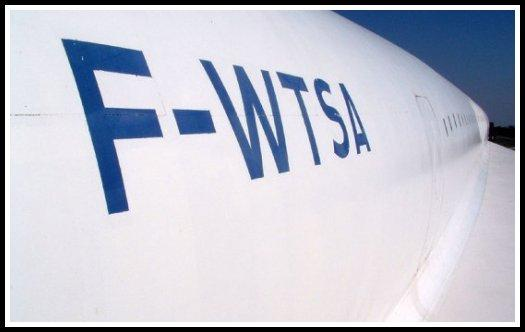 A French Concorde with the registration F-WTSA